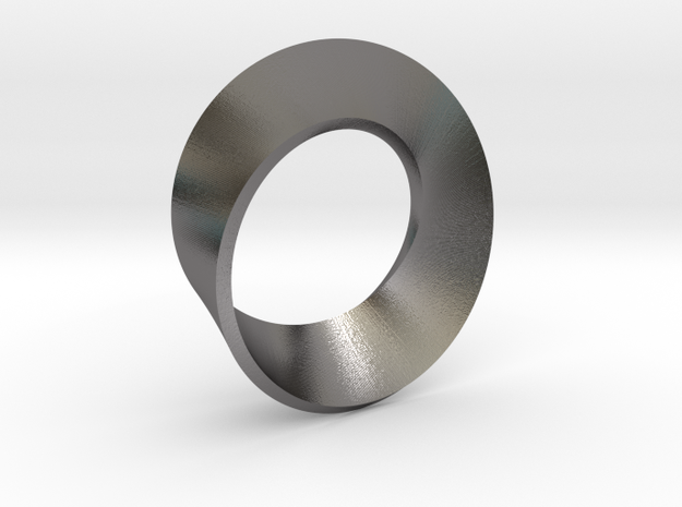 Perfect Mobius in Polished Nickel Steel