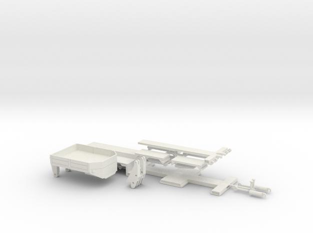 Tieflader ähnlich Goldhofer 3achs 1:50 in White Natural Versatile Plastic