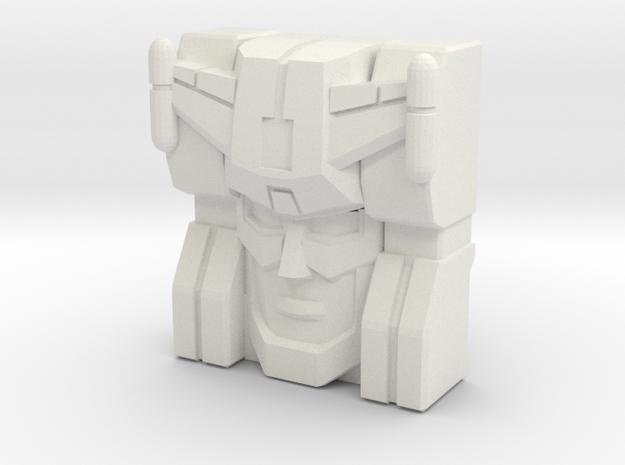 Kirk Faceplate (Titans Return) in White Natural Versatile Plastic