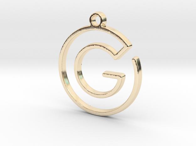 G Monogram Pendant in 14k Gold Plated