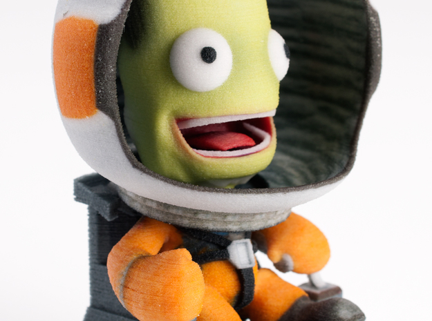 Jebediah Kerman on IVA 3d printed Credit: Mark Madeo of PC Gamer