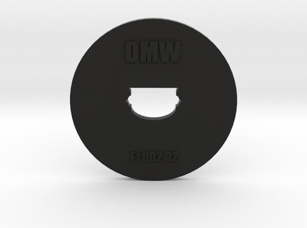 Clay Extruder Die: Footer 002 02 in Black Natural Versatile Plastic
