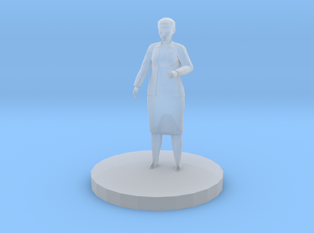 Elderly Woman in Smooth Fine Detail Plastic