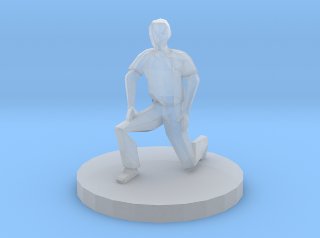 Man On One Knee in Smooth Fine Detail Plastic