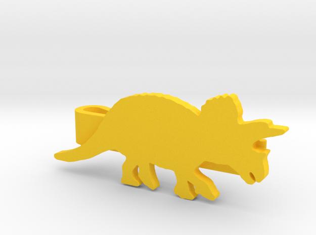 Triceratops Tie Clip