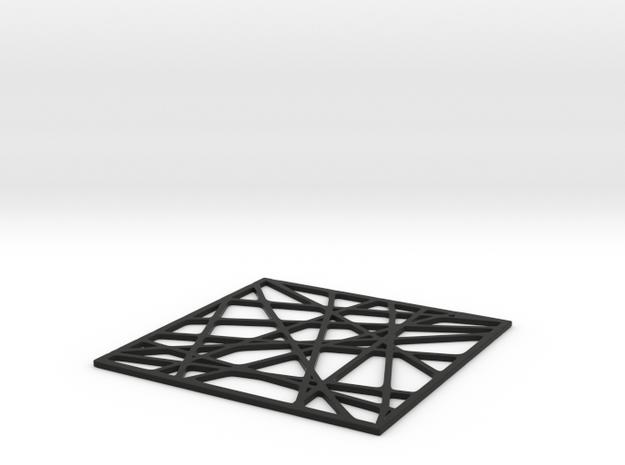 Drink Coaster  in Black Natural Versatile Plastic