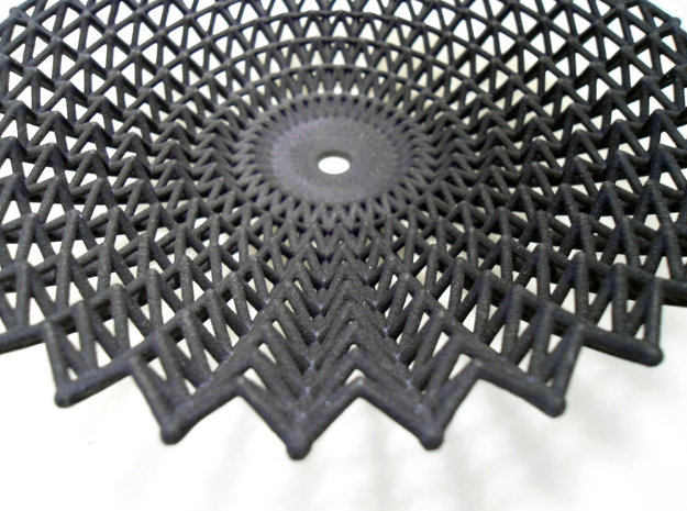 Lace Dish in Black Natural Versatile Plastic
