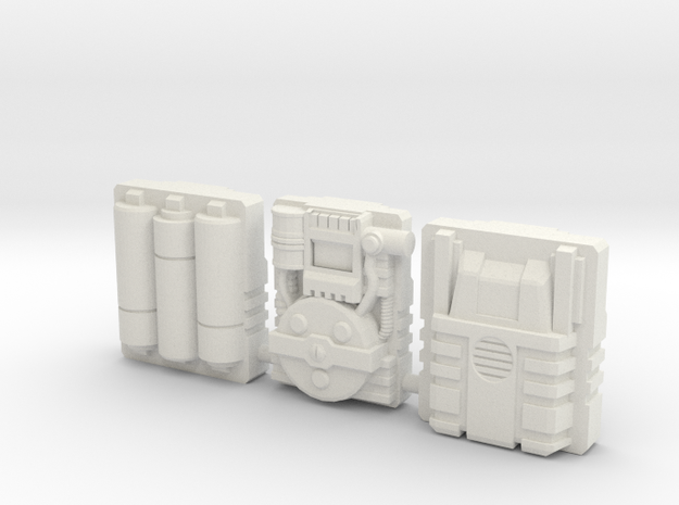 Titan Master Techpacks in White Natural Versatile Plastic