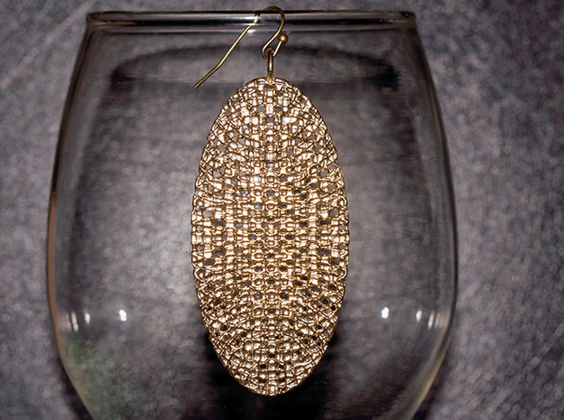 Texture Earring #2 in Raw Brass
