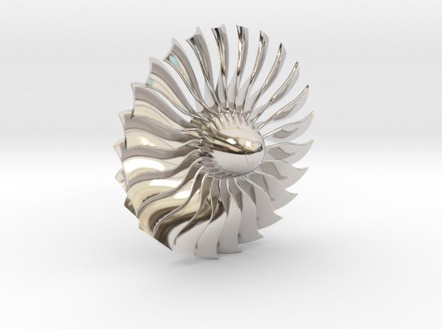 Turbine Alliance gp7200 40mm polished metal in Rhodium Plated Brass