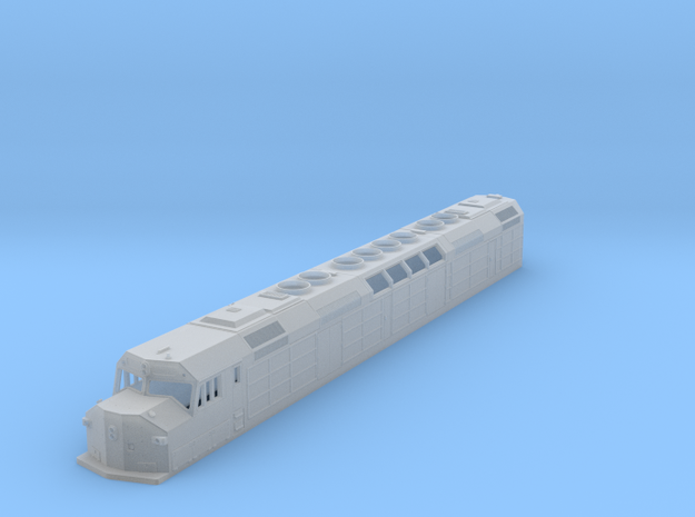 N Scale F40DDPH 'A' Unit w/Waffle Side Panels in Smooth Fine Detail Plastic