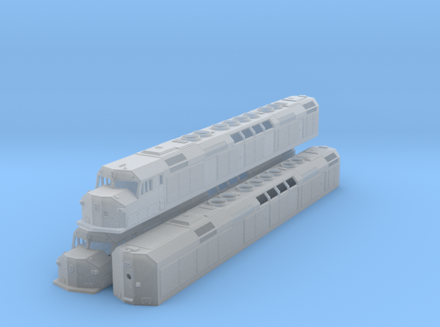 N Scale F40DDPH w/Louvered Side Panels in Smooth Fine Detail Plastic