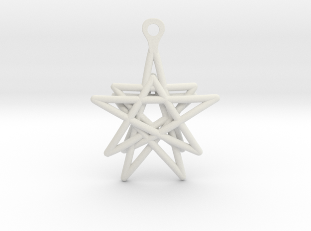 3D Printed Star in the Universe Earrings by bondsw in White Natural Versatile Plastic