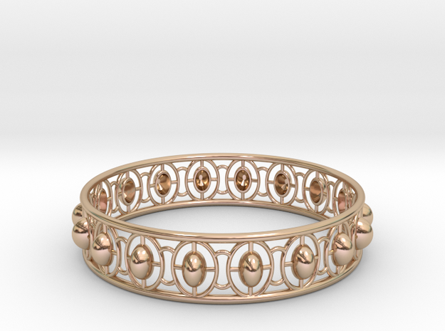 Bracelet 5 in 14k Rose Gold Plated