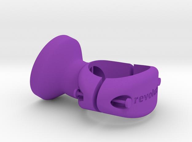 27.2 mm Garmin Varia/Edge Mount in Purple Strong & Flexible Polished