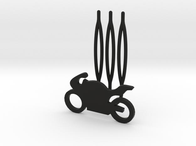 Motorbike decorative hair comb - small size