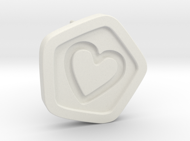 3D Printed Bond What You Love Stud Earrings in White Natural Versatile Plastic