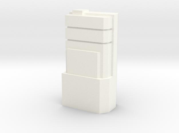 Custom Monopoly Hotel Version 3 (3cm tall) in White Processed Versatile Plastic