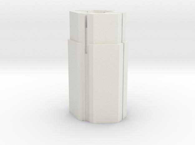 Custom Monopoly Hotel Version 5 (3cm tall) in White Natural Versatile Plastic