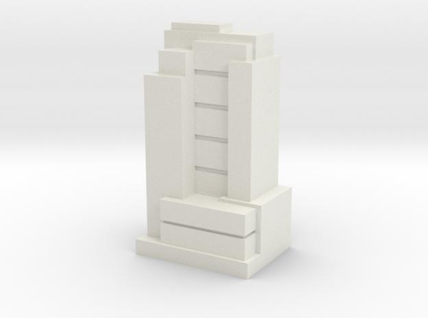 Custom Monopoly Hotel Version 8 (3cm tall) in White Natural Versatile Plastic