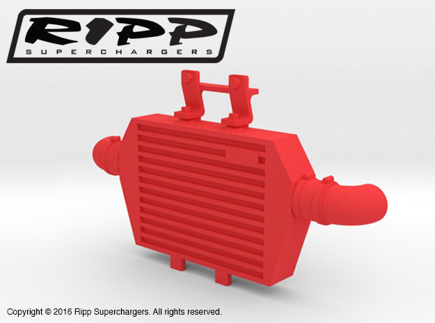 RS10001 Ripp Intercooler JK - RED in Red Strong & Flexible Polished