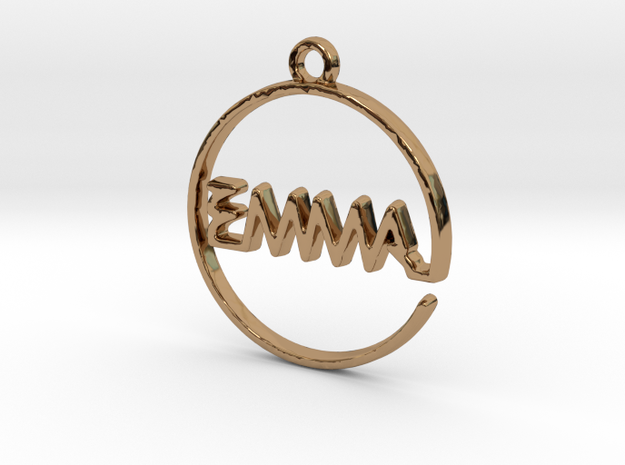 EMMA First Name Pendant in Polished Brass