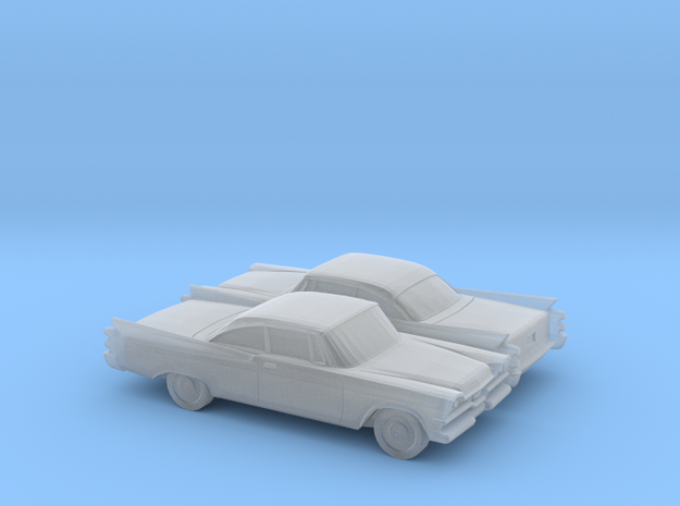 1/148 2X Dodge Royal Coupe in Smooth Fine Detail Plastic