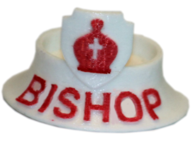 Chess Traders™ - Bishop in White Natural Versatile Plastic