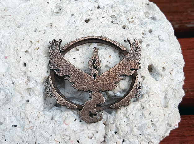 Team Valor Pendant in Polished Bronze Steel