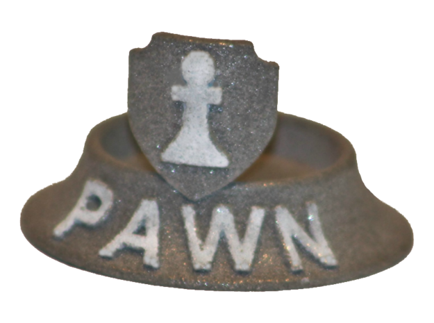 Chess Traders™ - Pawn in White Natural Versatile Plastic