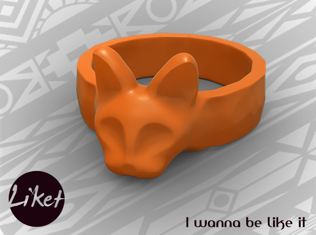 Wild Cat Ring size 5 in Orange Processed Versatile Plastic