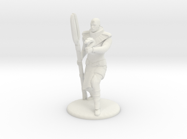 Jaffa Guard Firing his Zat - 20mm tall in White Strong & Flexible