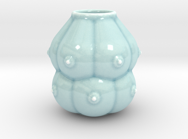 12-breasts shaped ceramic pot/small vase/calabash 3d printed