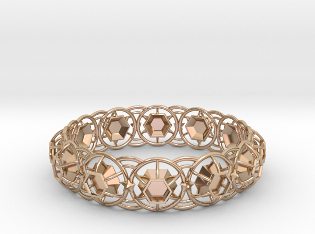 Bracelet 6 in 14k Rose Gold Plated