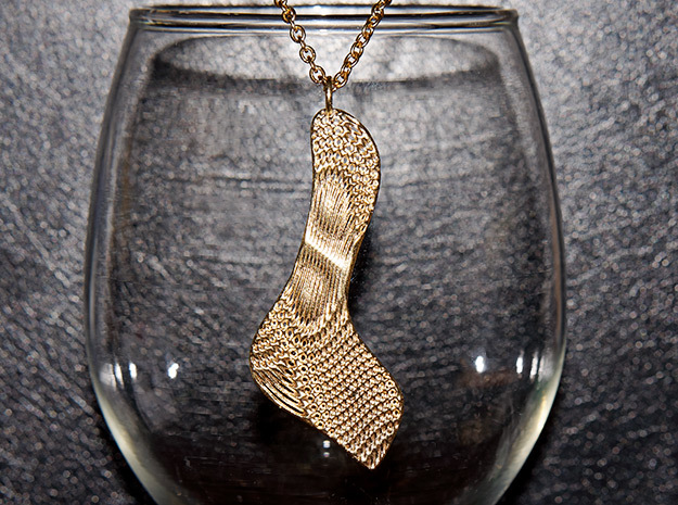 Texture #3 Pendant in Natural Brass