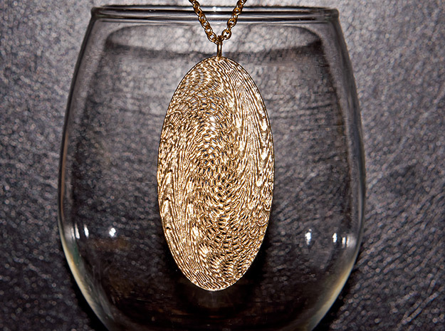 Texture #5 Pendant in Raw Brass