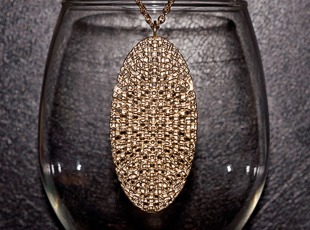 Texture #2 Pendant in Natural Brass