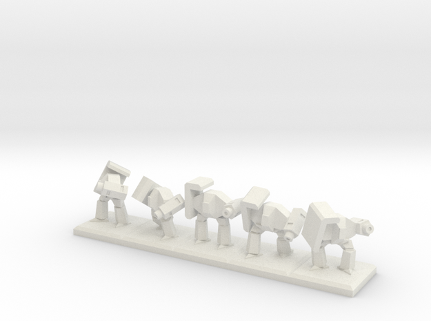 TA ARM Rocko Squad - 1cm tall in White Natural Versatile Plastic