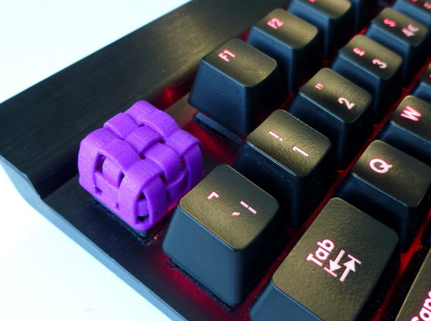 Weaved Cherry MX Keycap in Purple Processed Versatile Plastic