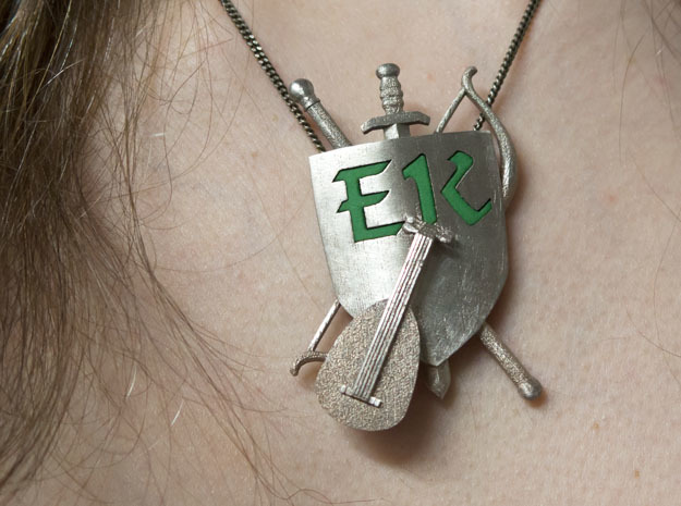 The Emerald Knights Badge1 in Stainless Steel