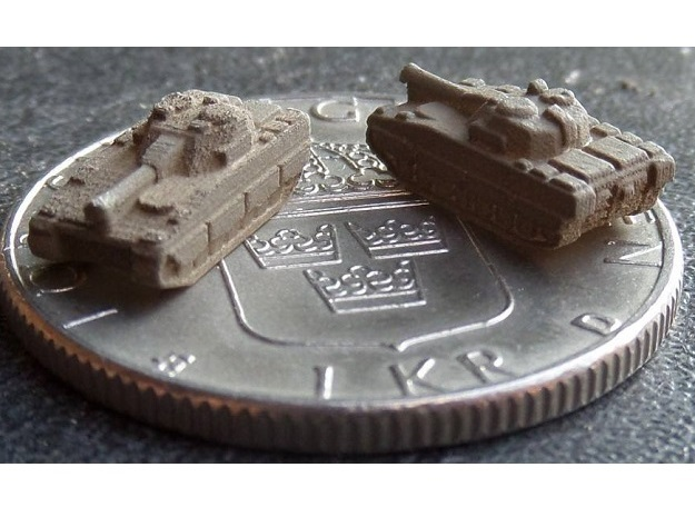 3mm CV90 IFVs And AT Units (20 Pcs) in White Natural Versatile Plastic