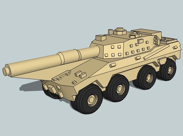 3mm SADF Rooikat MBT (12 pcs) in Frosted Ultra Detail
