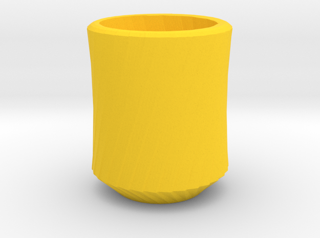 Simplecurve Cup in Yellow Processed Versatile Plastic