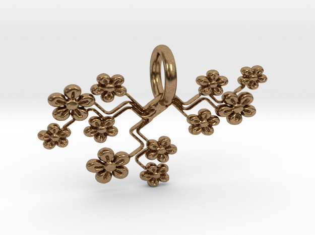 Bouquet Pendant in Natural Brass