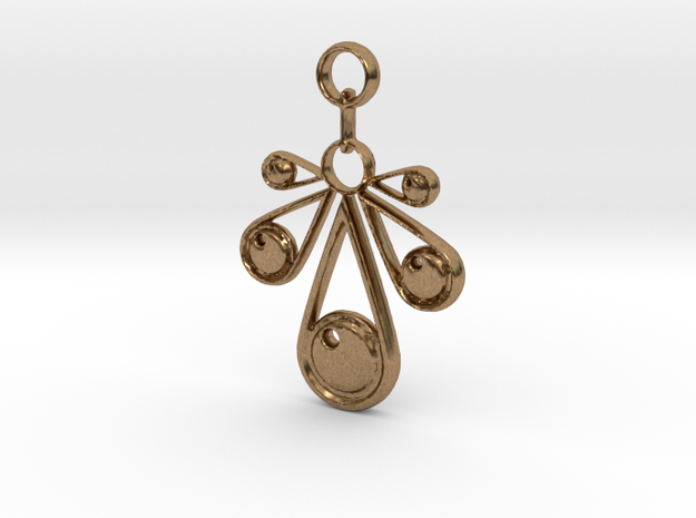 Pendant No.3 in Natural Brass