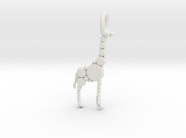 Giraffe Pendant in White Natural Versatile Plastic