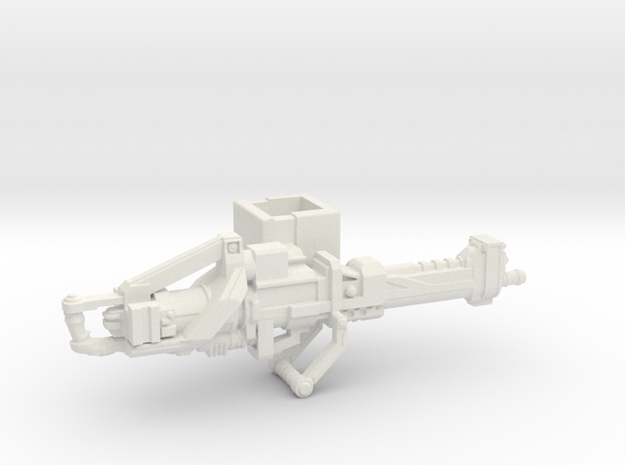M237D Heavy Machine Gun  in White Natural Versatile Plastic