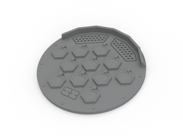 Missile Launcher Cover Plate in White Processed Versatile Plastic