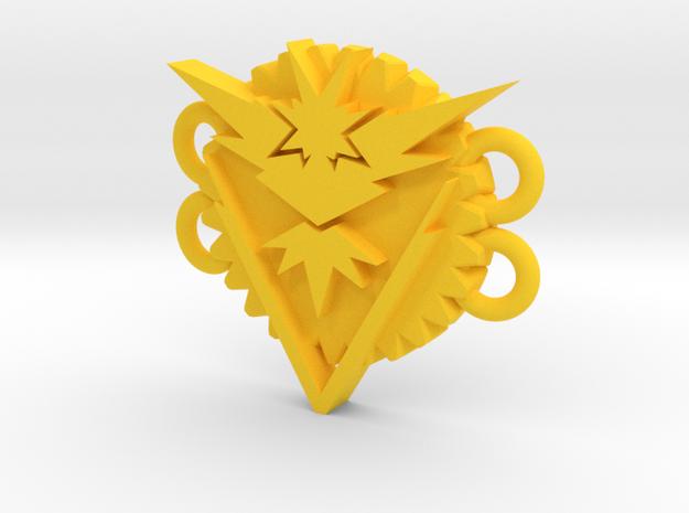 Pokemon Go Team Instinct Bracelet Medallion in Yellow Processed Versatile Plastic