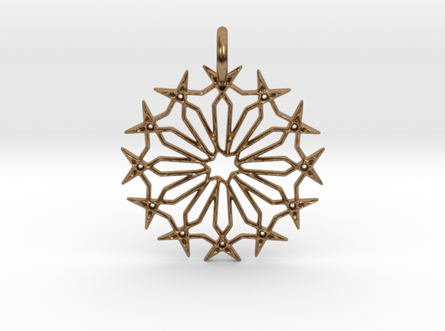 Star No.2 Pendant in Natural Brass